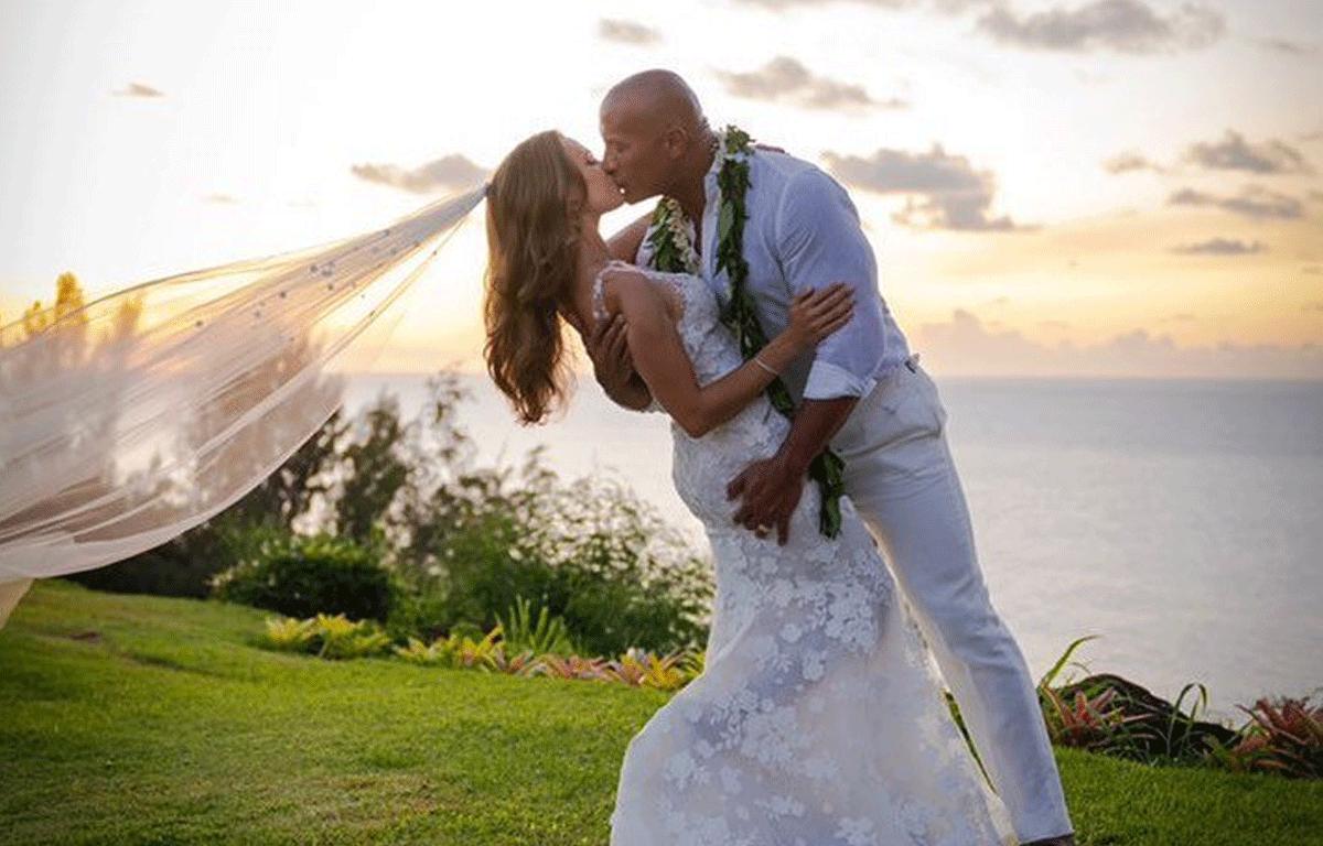 Dwayne-'The-Rock'-Johnson-Marries-Lauren-Hashian-In-Hawaii