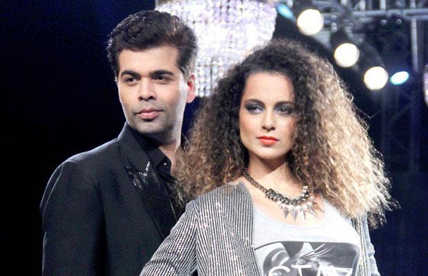 Karan Johar and Kangana Ranot