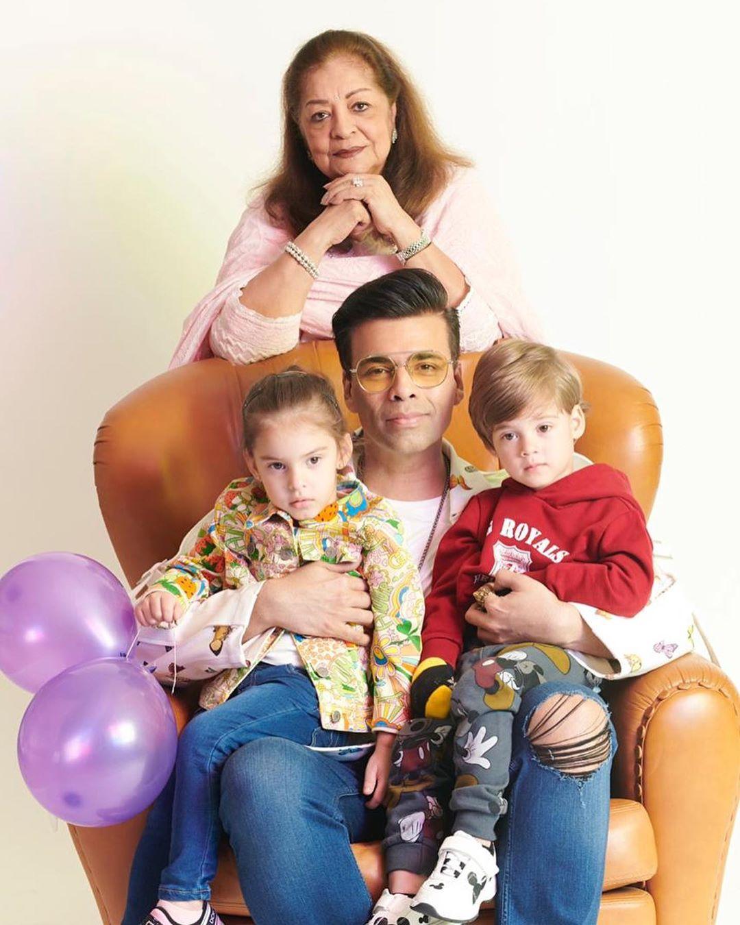 Karan Johar with children