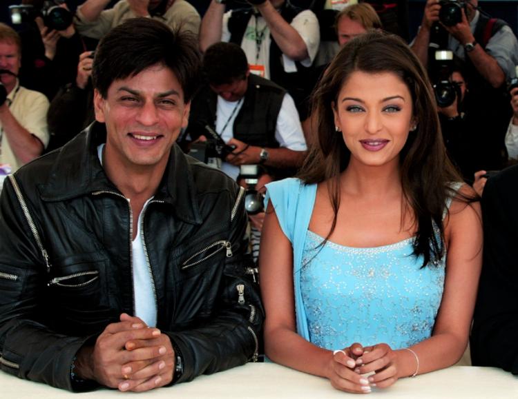 Aishwarya Rai and Shahrukh Khan