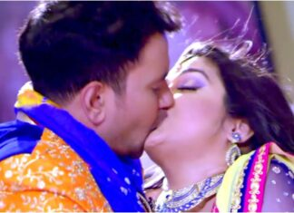 Nirahua Aamrapali Dubey Kissing Scene Video