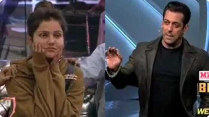 bigg boss 14: Salman khan angry on rubina dilaik