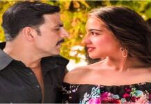 Akshay Kumar posing in a romantic style to Sara Ali Khan, photo went viral
